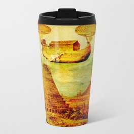 The Noah's Ark arrives on the tower of Babel Travel Mug