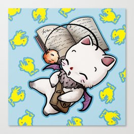Moogle and chocobo Canvas Print