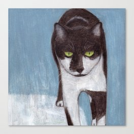 Cat in Snow Canvas Print