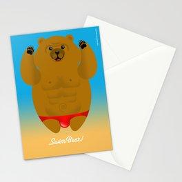 SWIM BEAR Stationery Cards