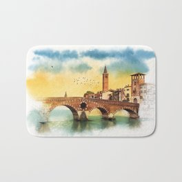 Bridge in Verona Bath Mat