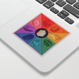 Crystal Color Wheel Sticker