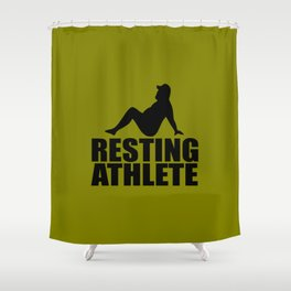 resting athlete funny quote Shower Curtain