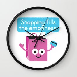 Retail Therapy Wall Clock