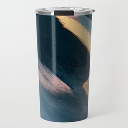 Ignite: colorful abstract in blue pink and gold Travel Mug
