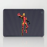 iron man iPad Cases featuring iron man  by mark ashkenazi