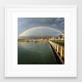 Rainbow over Seneca Lake Framed Art Print