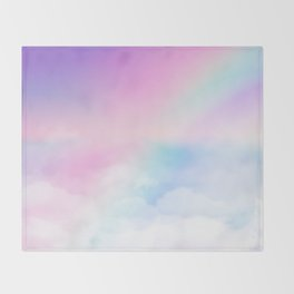 Pretty Rainbow Throw Blanket