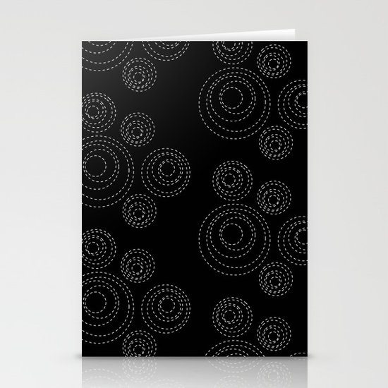 stitched circles Stationery Cards