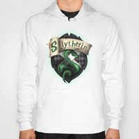slytherin Hoodies featuring Slytherin Crest by Sharayah Mitchell