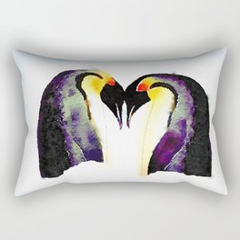 Penguin Love Rectangular Pillow