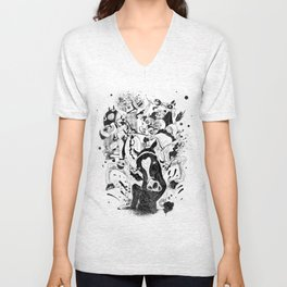 The Great Horse Race! B&W Edition Unisex V-Neck