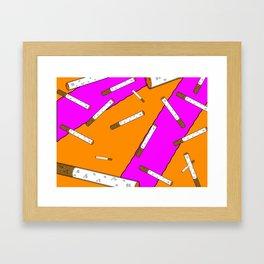 Cigarette Daydreams Framed Art Print