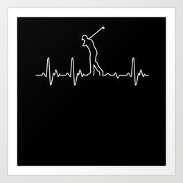 Heartbeat Golf Art Print