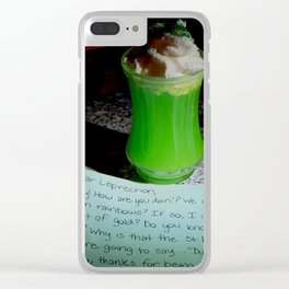 Letter to a leprechaun Clear iPhone Case