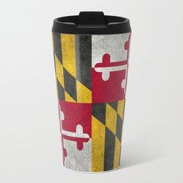 State flag of Flag of Maryland, Vintage retro style Travel Mug