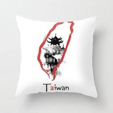 Taiwan, Taipei Throw Pillow