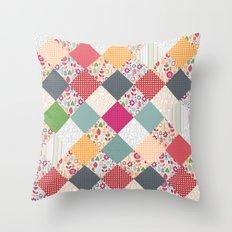paper cut flower diamonds Throw Pillow