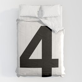Number 4 (Black & White) Comforters