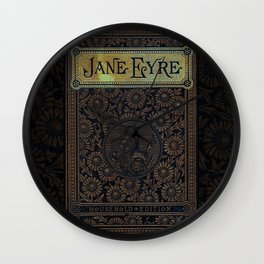 Jane Eyre by Charlotte Bronte, Vintage Book Cover Wall Clock