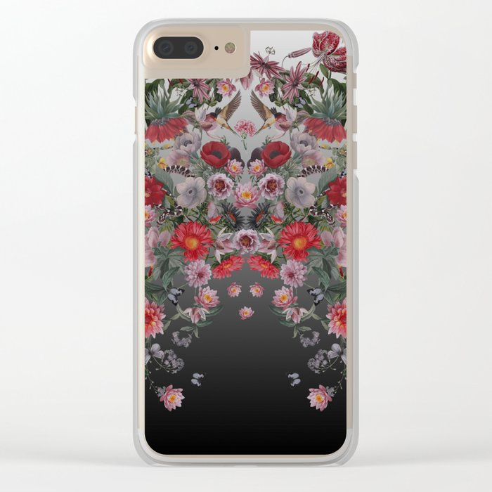 Flowers and Animals Clear iPhone Case