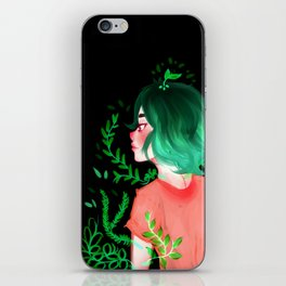 Young flower by Ane Teruel iPhone Skin
