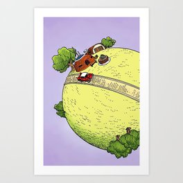 King Kai's Planet Art Print