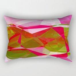 Crape Myrtle Abstract Polygons 2 Rectangular Pillow