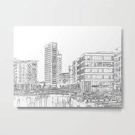 Clarence Dock Leeds Drawing Metal Print