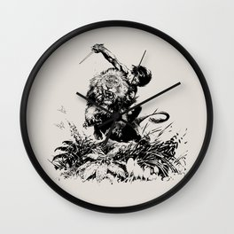 Lord of the Jungle Wall Clock