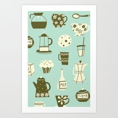 Cafe Au Lait Art Print
