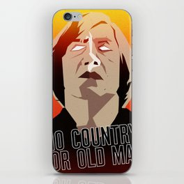 No Country For Old Man Poster iPhone Skin
