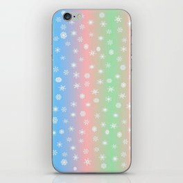 Christmas happy holidays snowflakes iPhone Skin