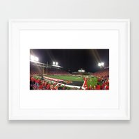 football Framed Art Prints featuring Football by Yellow Barn Studio