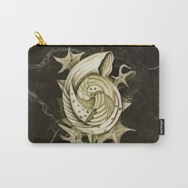 Dystopian Conch - Gold Carry-All Pouch