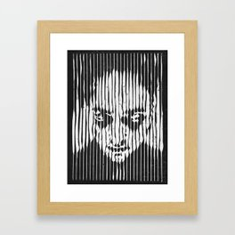 no casualities - b&w version Framed Art Print
