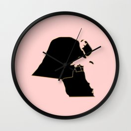 Kuwait map Wall Clock