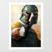 boba Art Prints featuring Boba by Yvan Quinet