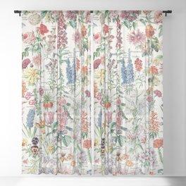 Adolphe Millot - Fleurs pour tous - French vintage poster Sheer Curtain
