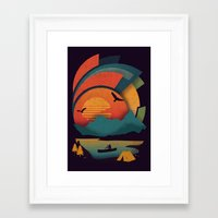 explore Framed Art Prints featuring Explore by The Child