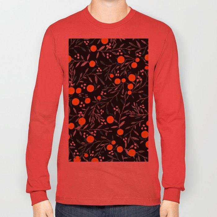 Oranges Black Long Sleeve T-shirt