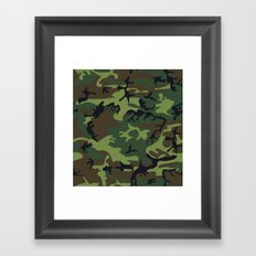 Army Camouflage Framed Art Print