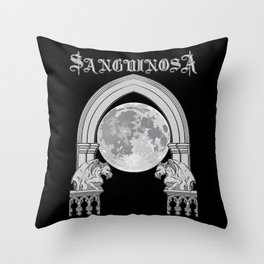 Sanguinosa - At The Gates Of The Crypt Throw Pillow
