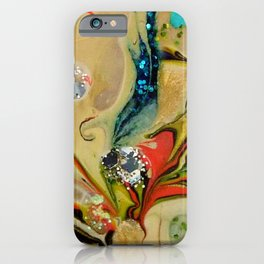 Hawthorne yellow multicolor acrylic abstract art iPhone Case