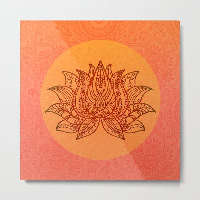 Lotus Flower of Life Meditation  Art Metal Print