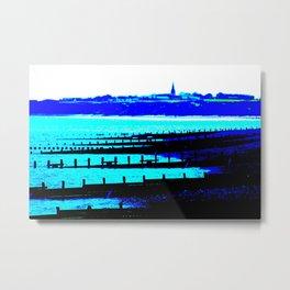Sea View At Hornsea Metal Print