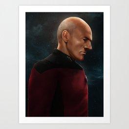 Captain Jean-Luc Picard Art Print