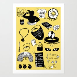 It's Always Sunny doodles Art Print