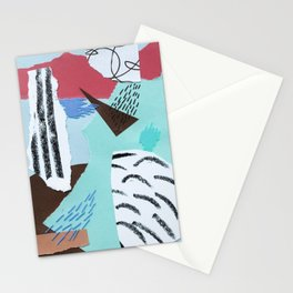 pastels paper collage Stationery Cards