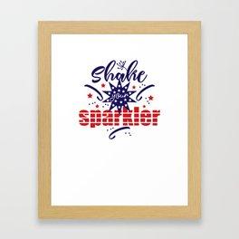Shake your Sparkler Framed Art Print